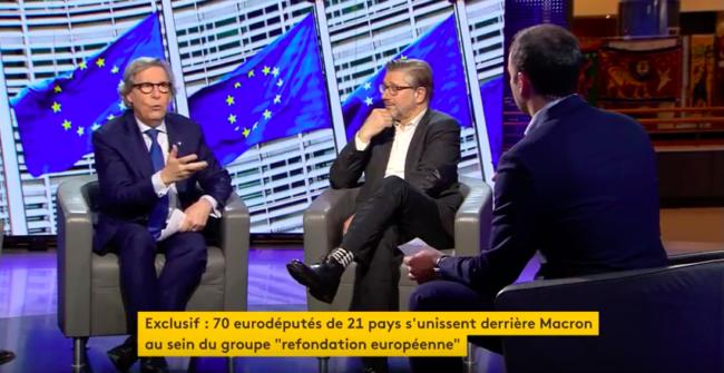 """Dans l'émission """"La Faute à l'Europe"""", l'eurodéputé Gilles Pargneaux a vanté l'existence d'un groupe informel de soutien aux idées d'Emmanuel Macron."""