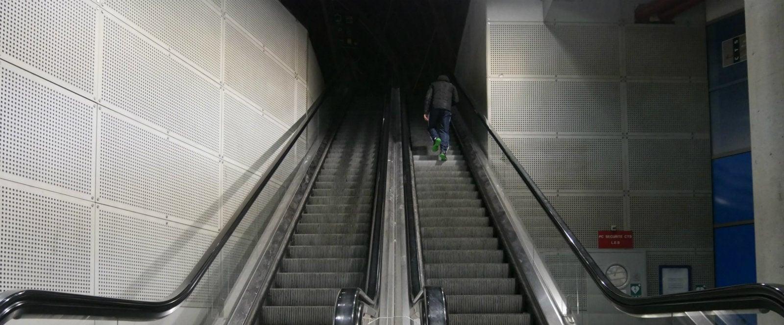 Les escalators de la gare centrale seront réparés fin mars