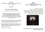 Programme du Forum social (dimanche 21 janvier)
