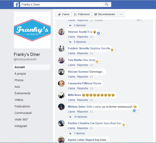 Réactions des habitués des Franky's Diner