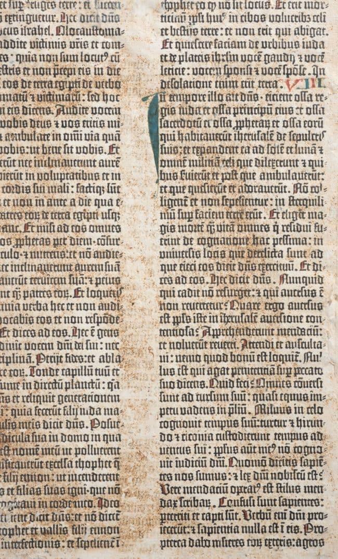 La Bible de 42 lignes, le second ouvrage imprimé par Gutenberg (doc remis)