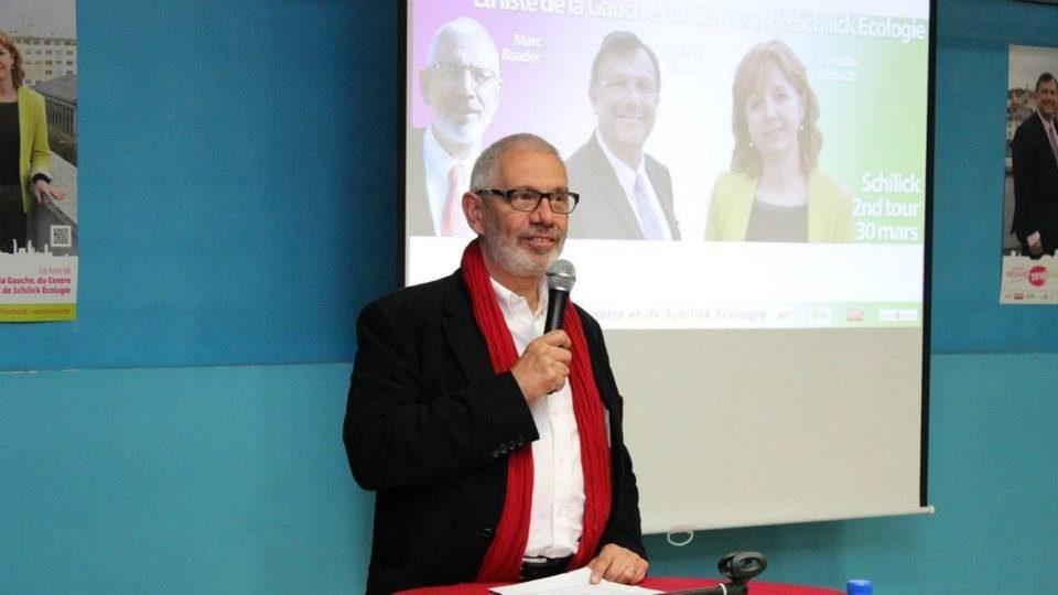 Marc Baader, tête de liste des insoumis pour les élections anticipées à Schiltigheim