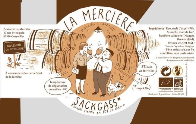 La sackgass, une nouvelle bière de La Mercière. La brasserie a profité du déménagement pour repenser toute sa gamme (doc remis)