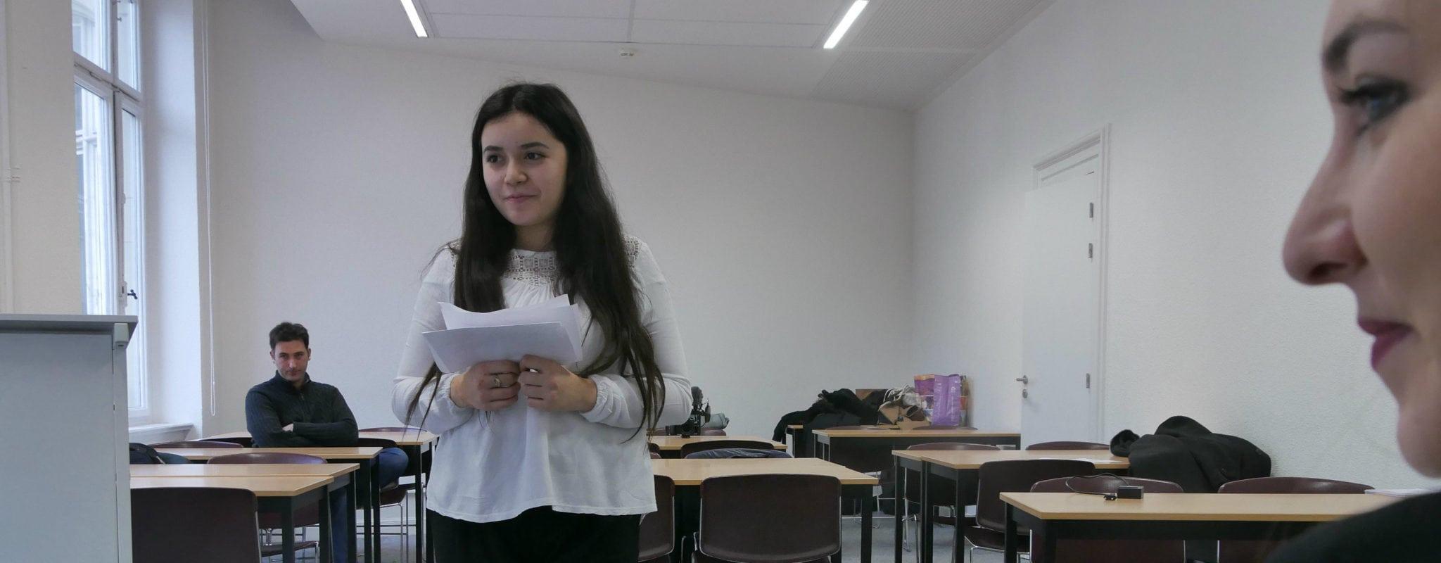 Élise, de Hautepierre à l'école des avocats le temps d'un discours
