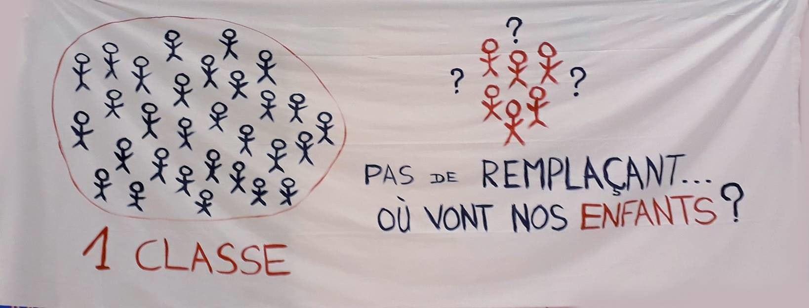 Manifestation de parents pour réclamer plus d'enseignants mercredi