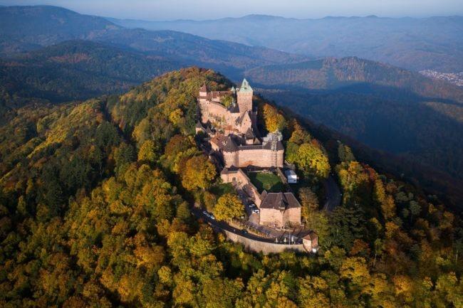 Le Haut-Koenigsbourg vu d'en haut (Photo Tristan Vuenot)
