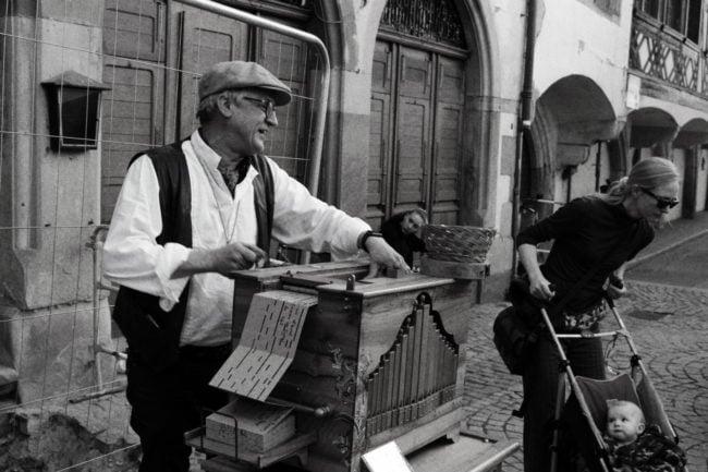 Monsieur Paul joue plutôt la carte nostalgique (Photo ES / Rue89 Strasbourg / cc)