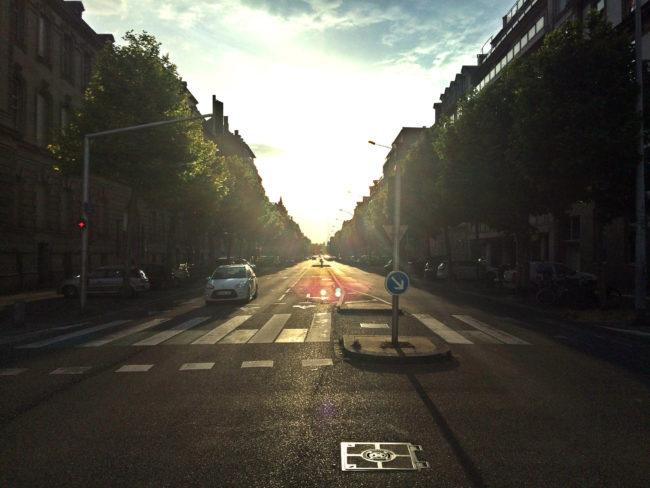 L'avenue des Vosges, une bien belle manière d'aller vers 2020 ? (Photo JFG / Rue89 Strasbourg / cc)