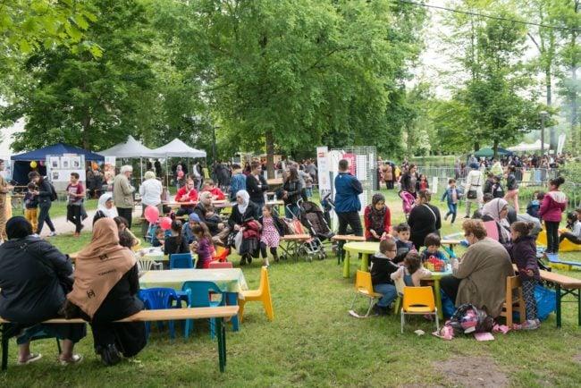 Chaque année, la fête du Parc Schulmeister attire environ 3 000 personnes (Photo Philippe Stirnweiss / Ville de Strasbourg)