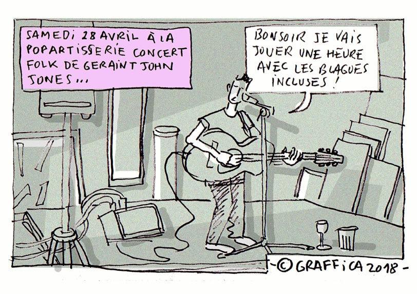 Au concert de Geraint John Jones à la Popartiserie