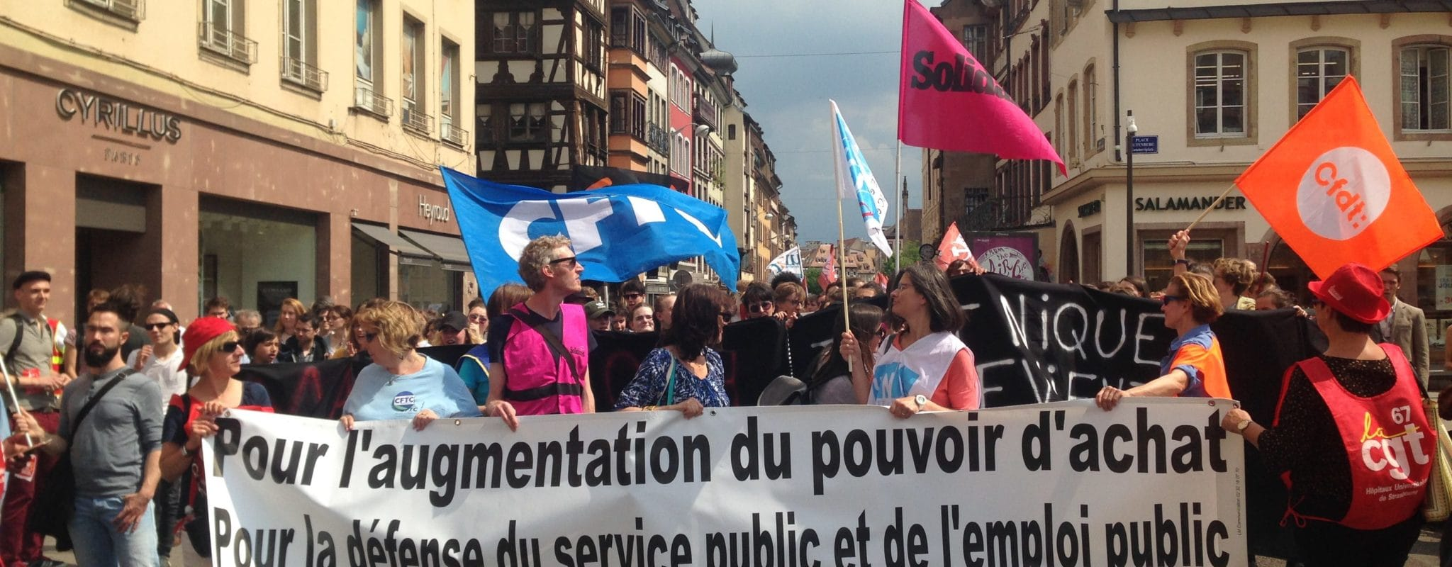 Environ 2000 personnes dans les rues de Strasbourg pour «donner un avenir à la fonction publique»