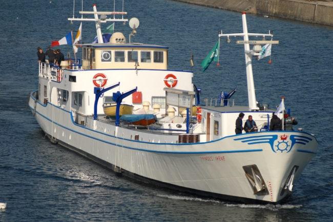Le bateau-école «Prinses Irene» a été construit en Hollande (Photo Lycée E. Mathis).