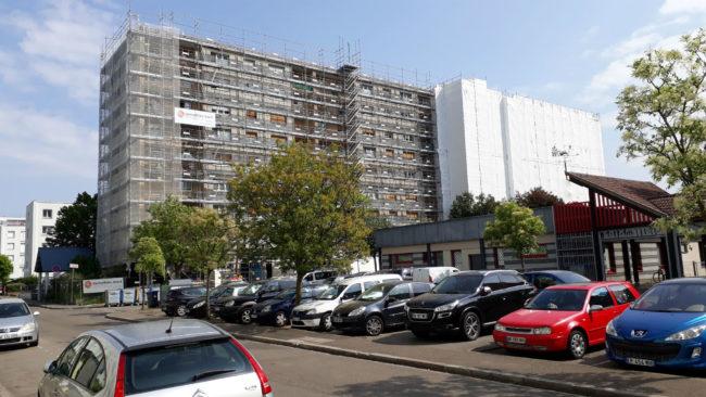 Rénovation du bâtiment rue de Verlaine à Bischheim - crédit Salem Slimani - CC Rue89 Strasbourg