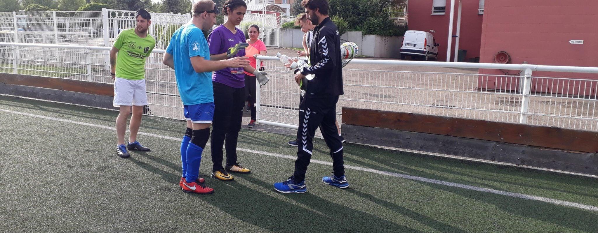 À Schiltigheim, avec la seule équipe de cécifoot du Grand-Est, le football pour aveugles