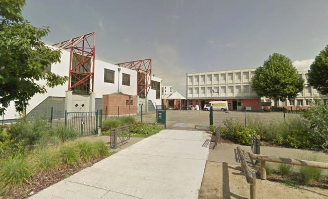 L'école Karine, dans la maille du même nom à Hautepierre (capture d'écran Google Street view)