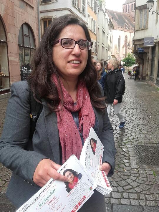 Hülliya Turan à Strasbourg en juin 2017 (Photo L'Humanité)