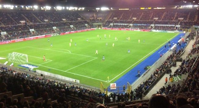 Le Racing veut agrandir un peu son stade de la Meinau (photo JFG / Rue89 Strasbourg)