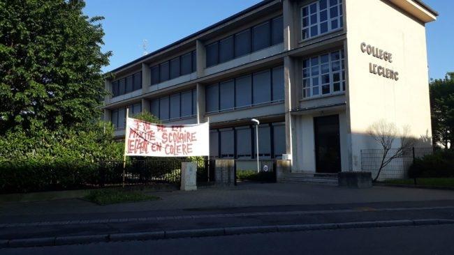 Depuis mai, les enseignants du collègue Leclerc se mobilisent contre la fin de la mixité (doc remis)