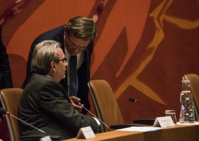 Le président de l'Eurométropole Robert Herrmann est plus critique sur le pacte financier que que son premier vice-président, le maire de Strasbourg Roland Ries (Photo Pascal Bastien)