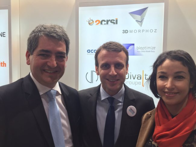 Jean Rottner et Lilla Merabet au salon business France en 2016 (Photo Jean Rottner / Twitter)