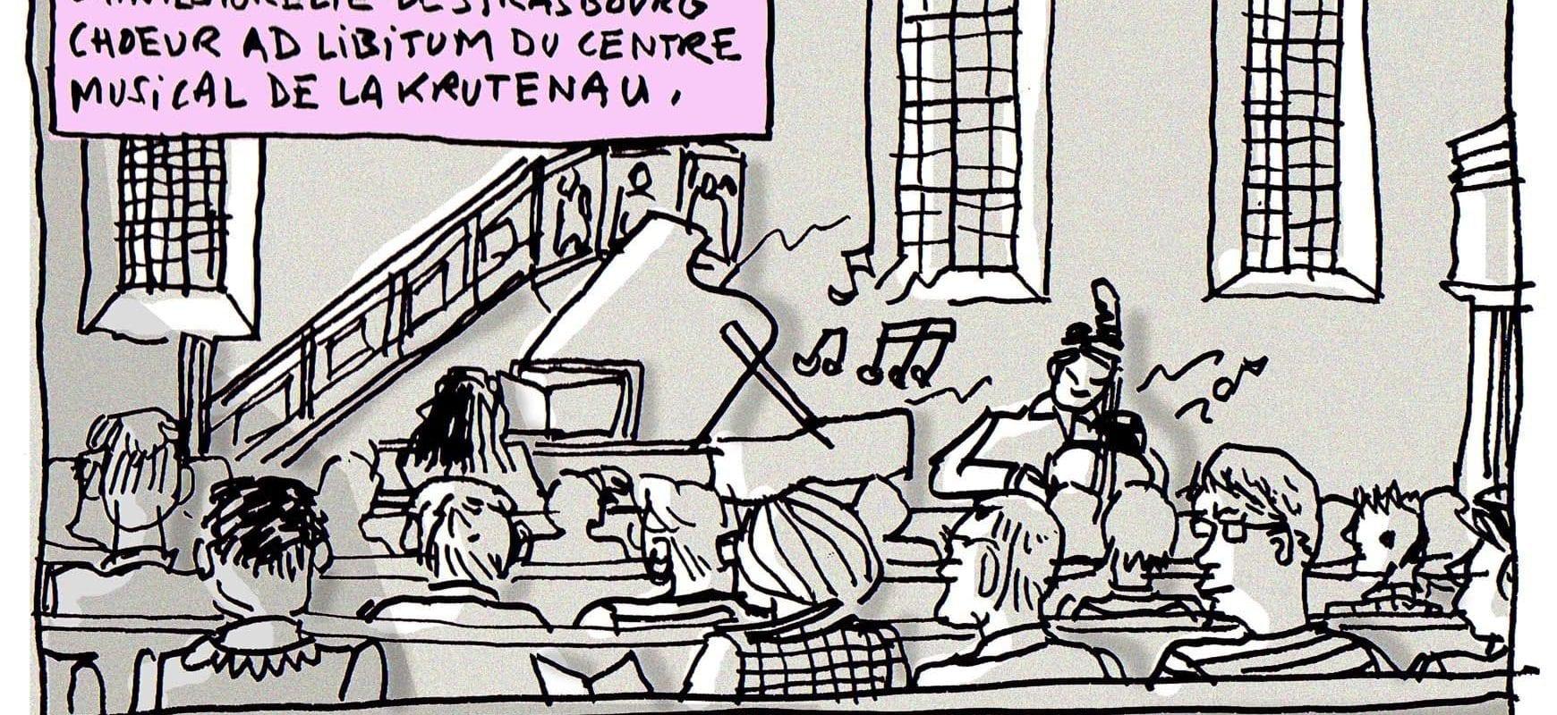 À l'église Sainte-Aurélie, Ad Libitum contre la mucoviscidose
