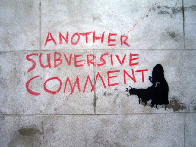 Another subversive comment (Photo Duncan C / FlickR / cc)