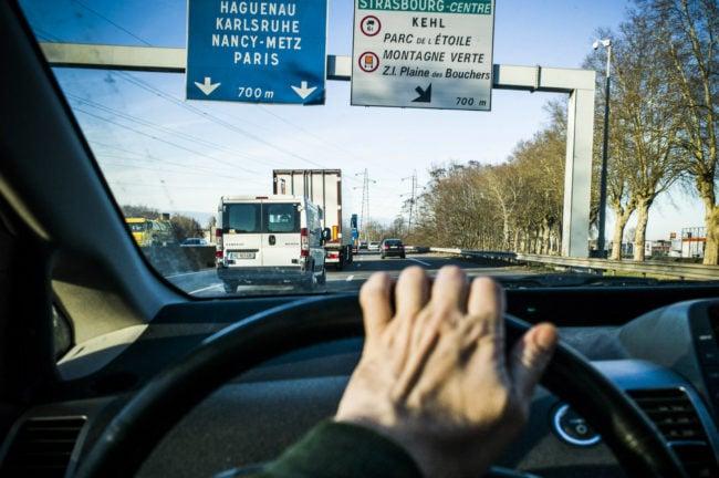 Les bouchons à Strasbourg, la faute aux véhicules qui traversent la ville ou ceux qui s'y rendent ? (Photo Pascal Bastien / Divergence)