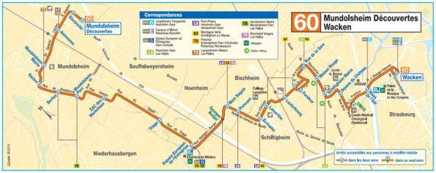 La ligne 60 est crée fin août 2018 (document CTS)