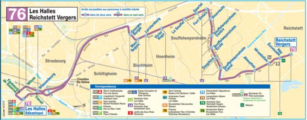 La ligne 76 est créée fin août 2018 (document CTS)