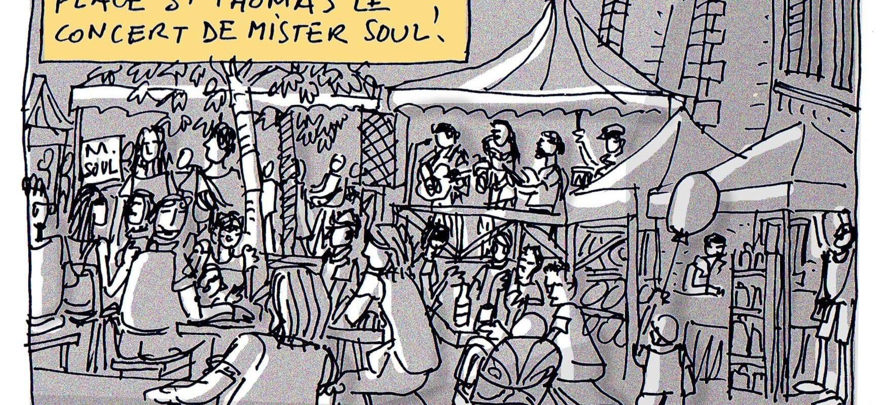 Avant la fête nationale, M. Soul place Saint-Thomas