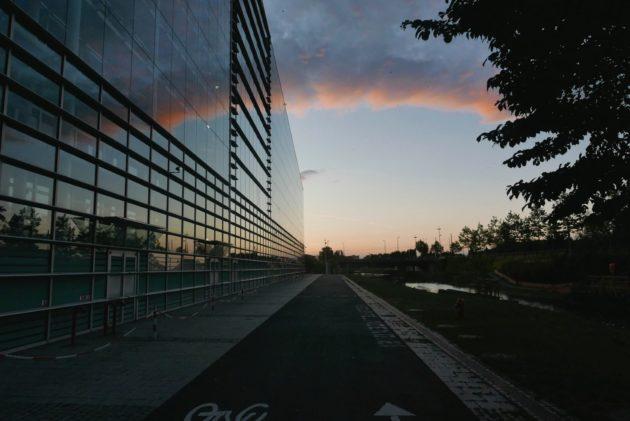 La piste cyclable n'est plus accessible aux Strasbourgeois (Photo EJ / Blog Robertsau)