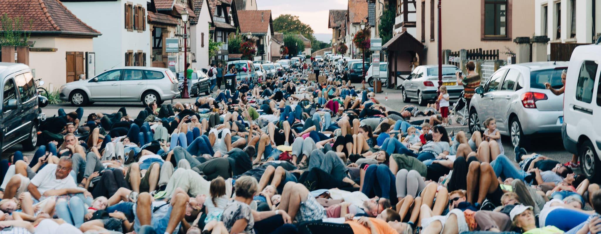 Une députée LREM gazée, trois interpellations et plusieurs centaines d'opposants au GCO à Kolbsheim