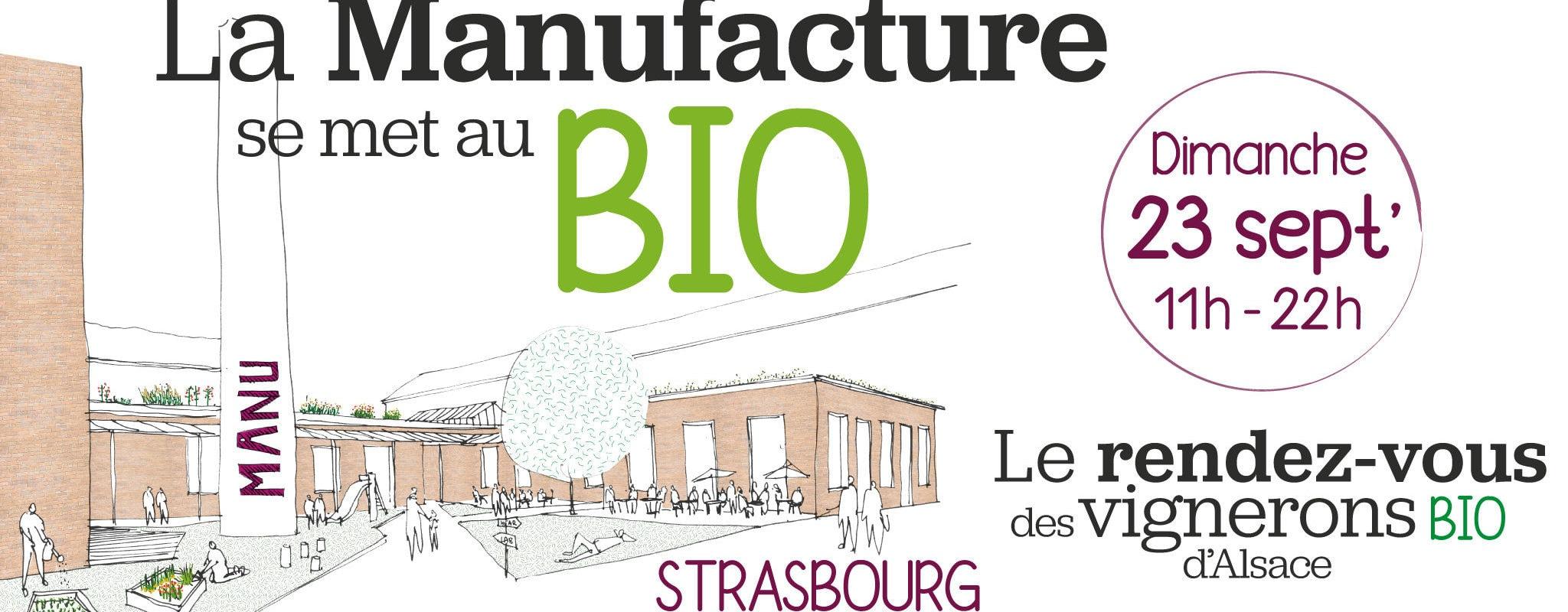 Dimanche, un aperçu du pôle bio de la Manufacture avec marché et animations
