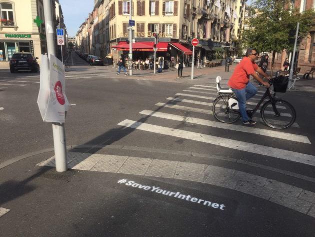 """Pas moins de 150 amendements ont été déposés en vue du vote de la directive """"droit d'auteur"""". (Photo CS / Rue89 Strasbourg / cc)"""