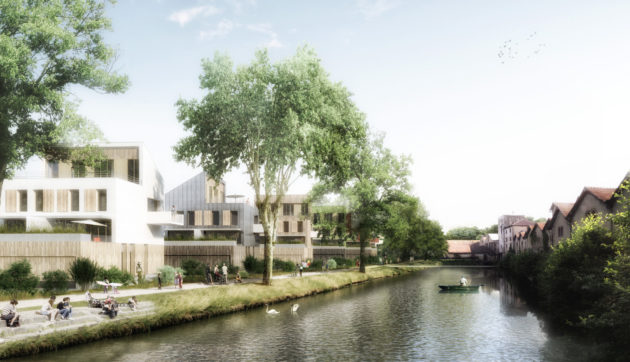 Vue d'architecte du nouveau projet Parc'éo (Photo TOA & AEA Architectes - Edifipierre)