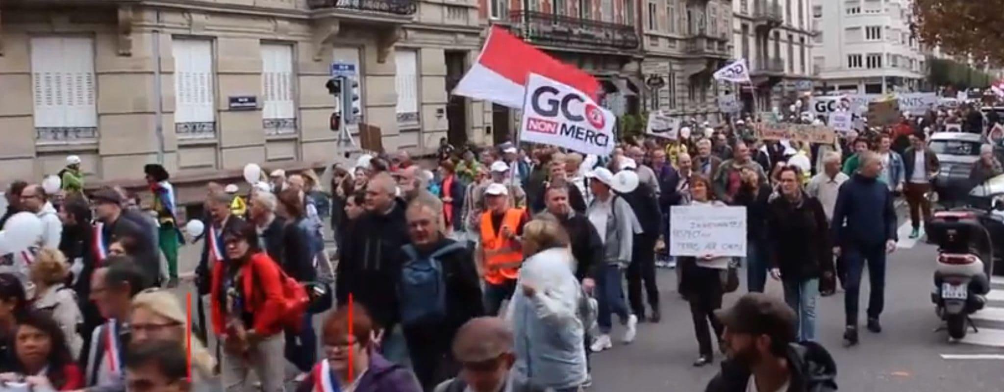 Manifestation de la dernière chance contre le GCO samedi à Strasbourg