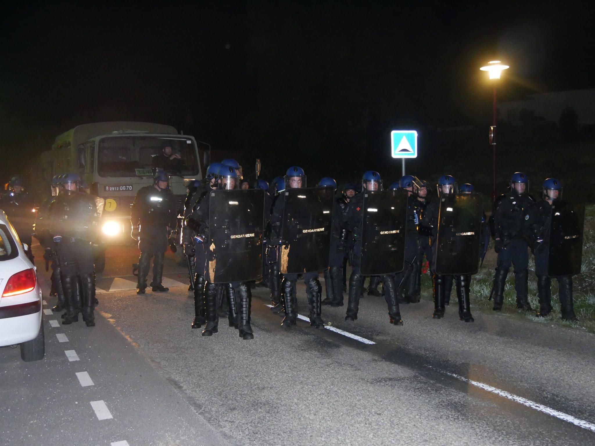 Plus de 500 gendarmes mobiles ont été appelés pour cette opération (Photo GK / Rue89 Strasbourg / cc)