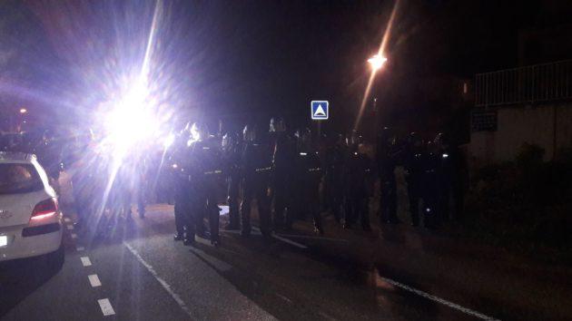Les gendarmes sont arrivés par la route D93. (Photo GK)