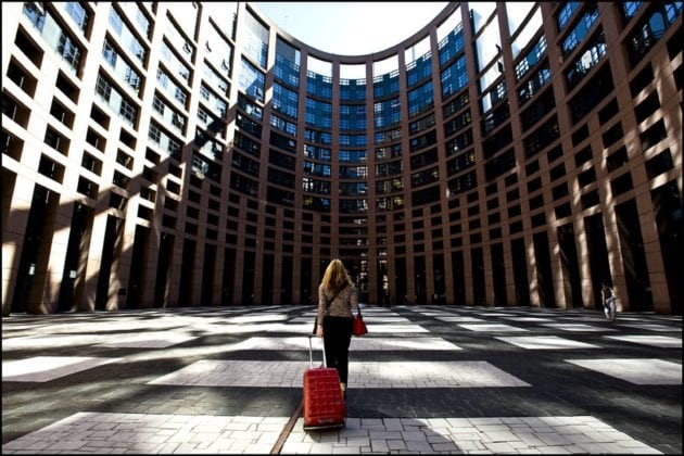 Arriver à Strasbourg... (Photo Parlement européen / cc)