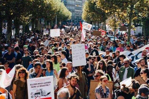 À Strasbourg, la première Marche pour le climat est tombée lors d'une manifestation contre le GCO (photo Abdesslam Mirdass)