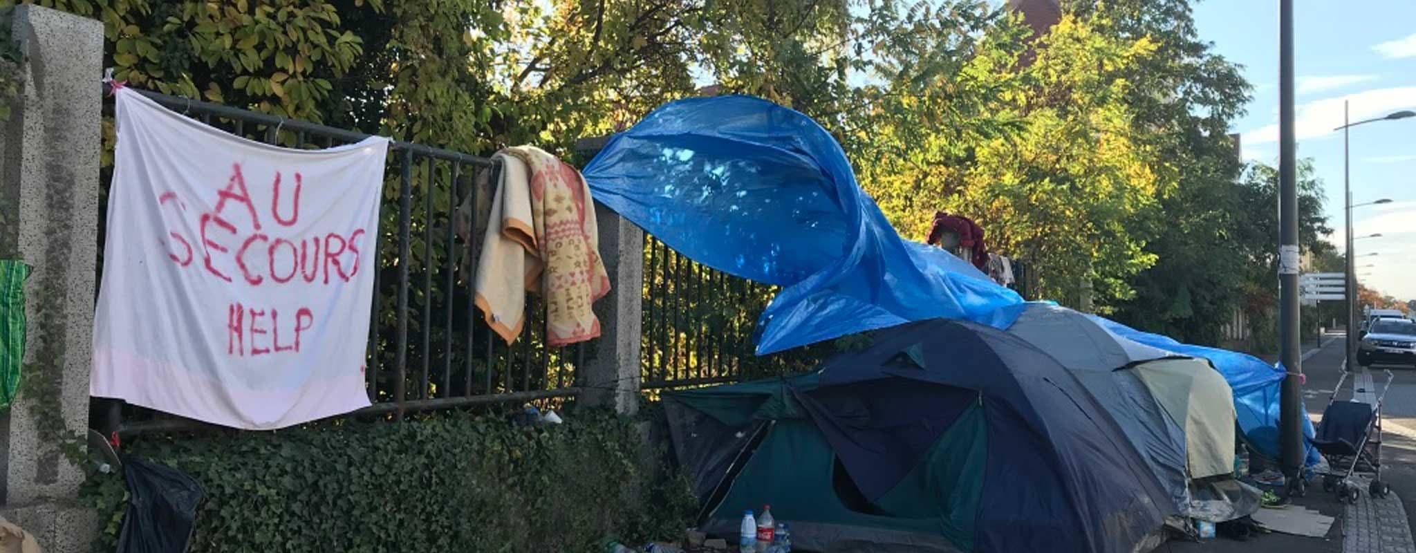Des familles roms dorment à nouveau dehors au Neuhof