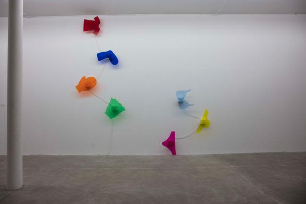 Vue de l'œuvre Tournée ensemble, d'Océan Delbes (photo association Le Tube)