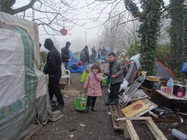 Le campement des Ducs d'Alsace a été évacué jeudi matin (Photo Gérard Baumgart)