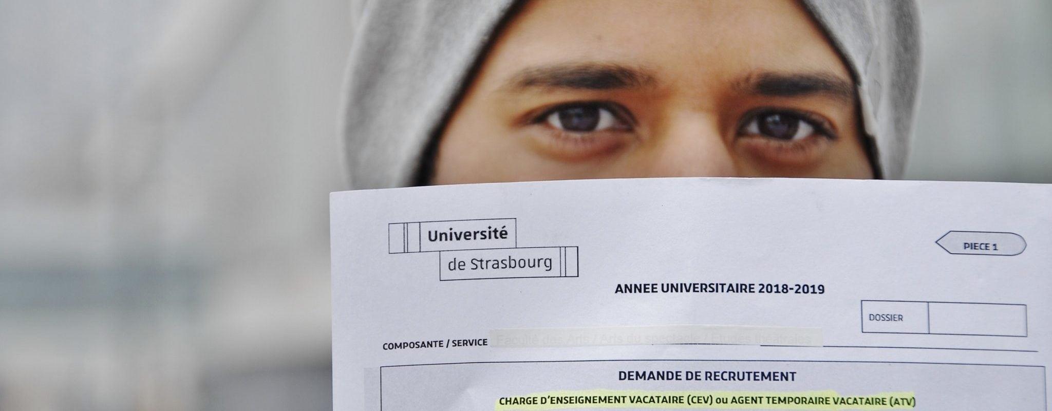 À l'université de Strasbourg, la précarité organisée des étudiants vacataires