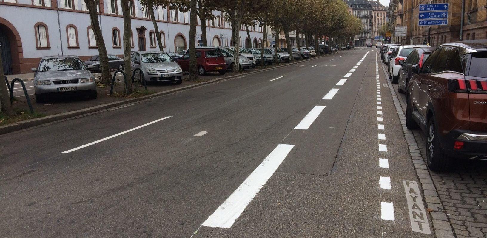 Des bandes cyclables provisoires sur les boulevards du quartier Gare