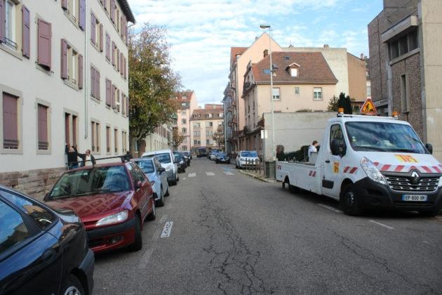 Cette partie de la rue du Hohwald resterait identique (photo JFG / Rue89 Strasbourg)