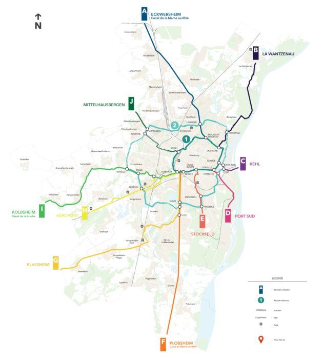 La carte de Vélostras, telle qu'elle est imaginée par les élus... en 2030. (doc remis)