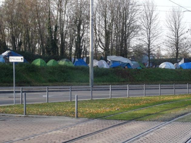 Vue d'ensemble du camp (photo Gérard Baumgart)