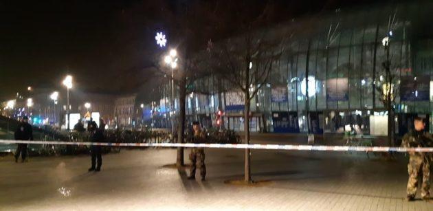 Périmètre d'accès à la gare bouclé (Photo LAD / doc remis)