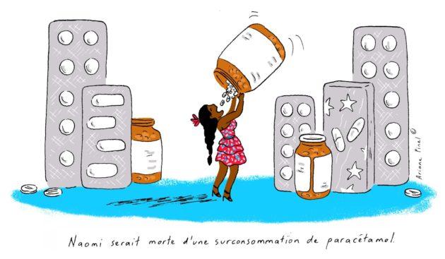 Pour le procureur, une intoxication au paracétamol serait la cause du décès de la jeune femme... (Dessin Ariane Pinel)